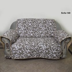 sofa coat brown printed