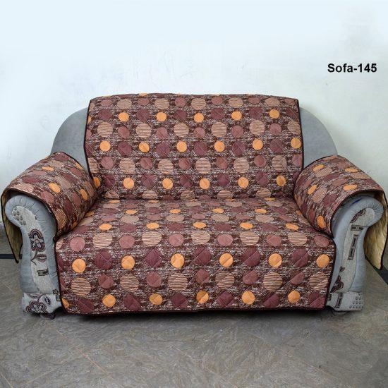 sofa coat brown dot