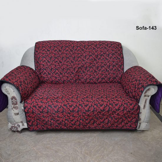 Red and Black sofa cover