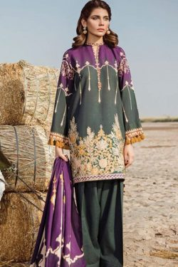 baroque khaddar dress bq 18