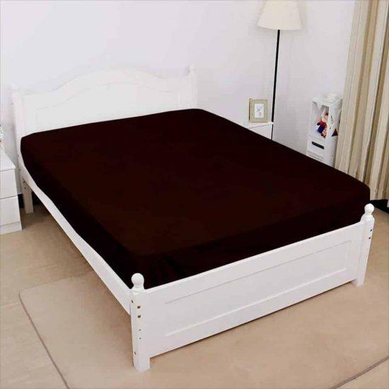 dark brown jersey fitted sheet