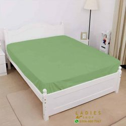 jersey fitted bed green