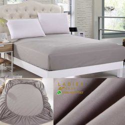 jersey fitted bed grey
