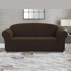 jersy sofa cover chocolate