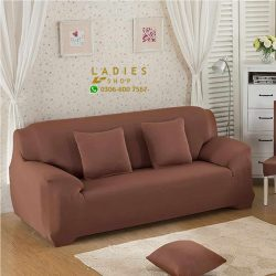 jersey sofa light brown