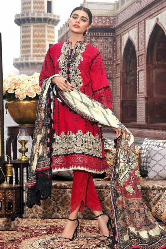 asim jofa embroided lawn collection 2020