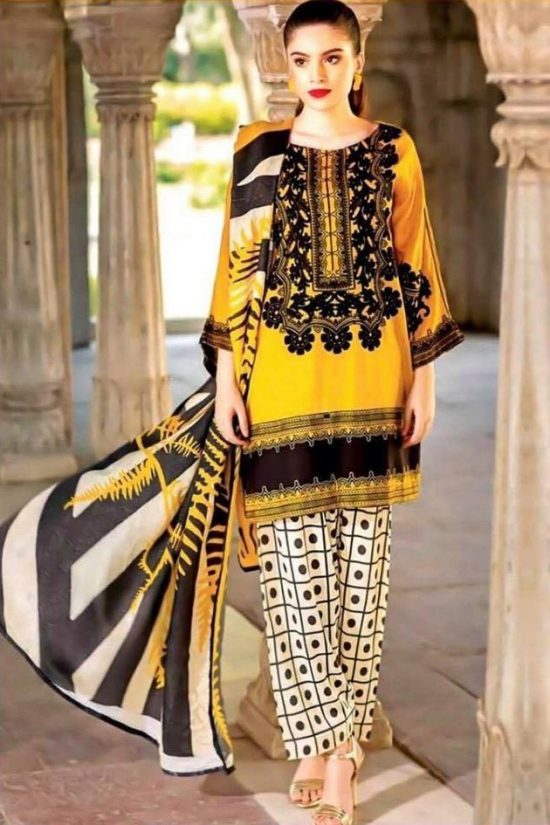 charizma lawn embroided lawn collection 2020