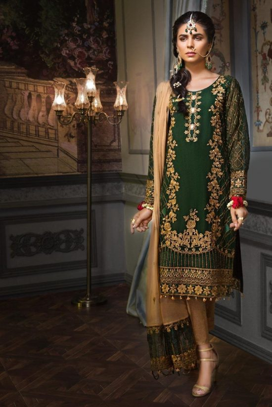 Mohagni lawn best embroided jaquard fancy lawn suit 2020