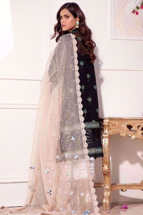 Anas Abrar embroided lawn suit 2020